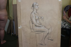 Figure drawing in Art Academy USA